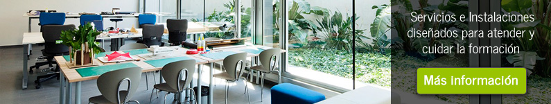 Servicios e intalaciones de la Residencia Universitària Sarriá
